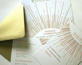 Go Lightly Wedding Invitation Suite on Cotton