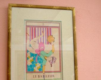 """Original Persian painting-Tarot card """"The Juggler"""" Original painting/Marseille tarot painting"""