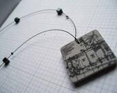 Square Architectural Plan - Necklace