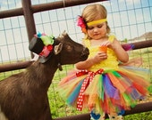Noah's Promise Rainbow Tutu - perfect for girls 1st birthday outfits and rainbow parties