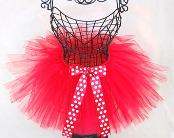 Minnie Mouse Tutu | Disney Tutu | Mickey Mouse Tutu | Disneybound Outfit | Red Tutu | Toddler Tutu | Sparkly Tutu | Polka Dot Tutu