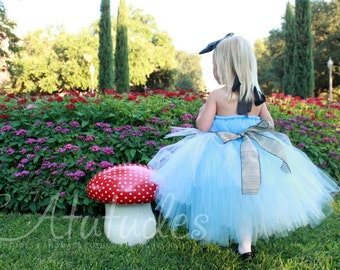 Alice In Wonderland Tutu Dress Alice in Onderland Party Wonderland Dress Onederland Party Dress First Birthday Dress 1st Birthday