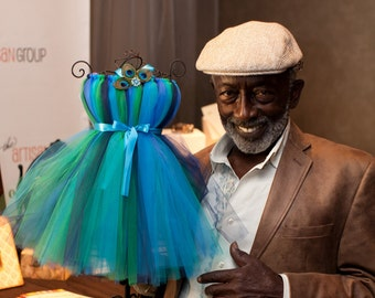 Atutudes Pretty Peacock Tutu Dress - Display Piece for the 63rd Annual Primetime Emmy Awards Gifting Suite and as seen on Etsylush