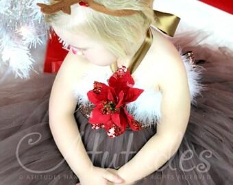 Atutudes Christmas Reindeer Tutu Dress
