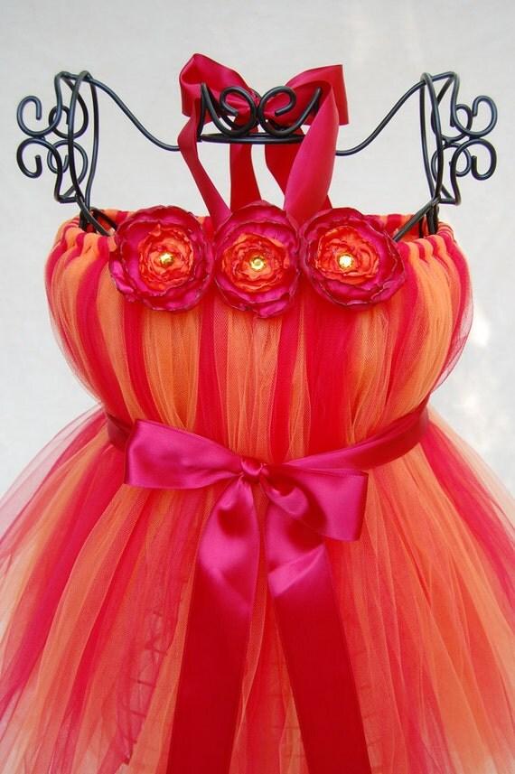 Atutudes Tangerine Tango Tutu Dress