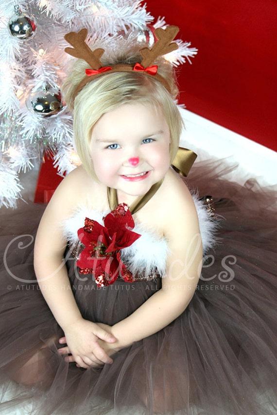 Kids Christmas Outfit   Girls Christmas Outfit   Gifts for Kids   Girls Holiday Outfit   Christmas Dress   Reindeer Tutu Dress