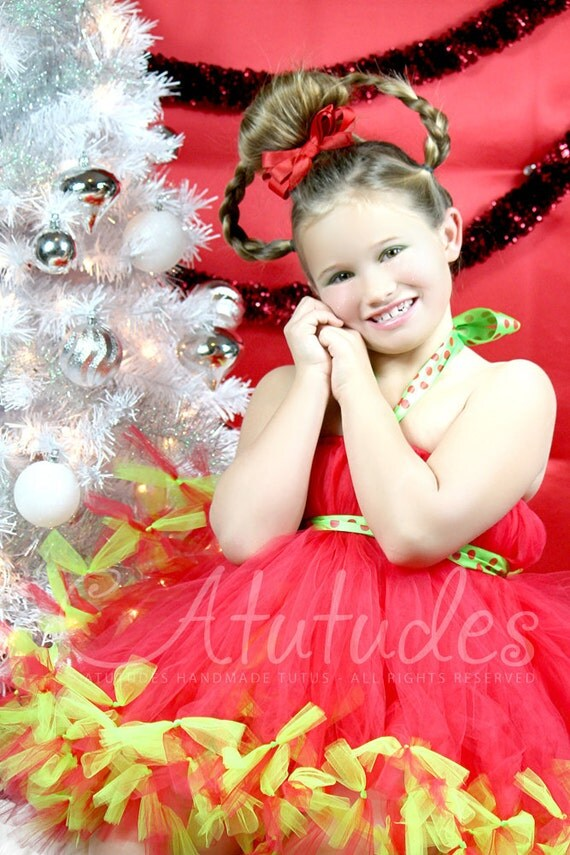 Atutudes Cindy Lou Who Grinch Petti Tutu Dress
