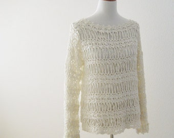 White Pearl Sweater
