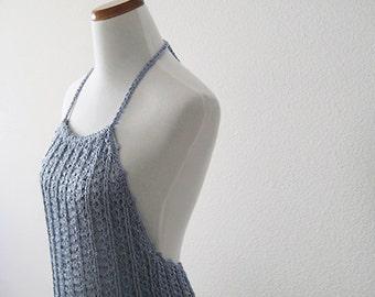 Silver Halter Dress