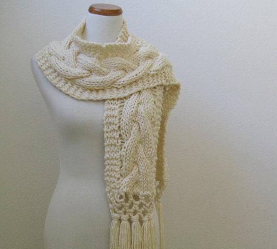 Ivory White Twist Scart