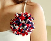 Fireworks Red White and Blue Chrysanthemum Flower Pin/Corsage Independance Day