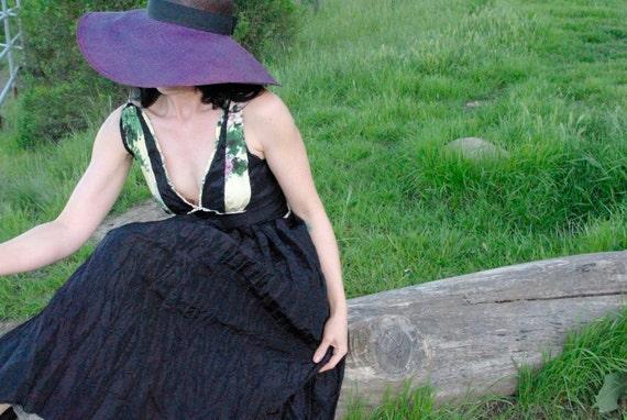 Genevieve - Black Wedding Dress, Unique Wedding Dress, Vintage Wedding Dress, Tea Length Wedding Dress, Sexy Wedding Dress, Empire Waist