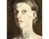 woman portrait  original painting JULIE - marina826
