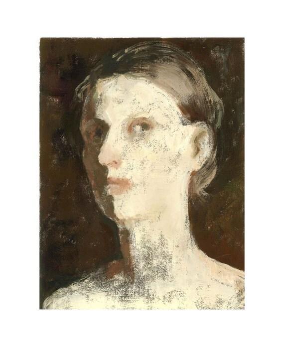 woman portrait  original painting JULIE