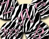 INSTANT DOWNLOAD New Zebra Alphabet (094) 4x6 Digital Collage Sheet  Bottle Cap Images bottlecaps glass tiles hair bows  bottlecap images