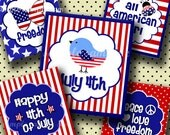 INSTANT DOWNLOAD Patriotic 4th of July (233) 4x6 Digital Collage Sheet ( 0.75 inch x 0.83 inch ) scrabble tile images  for scrabble tiles