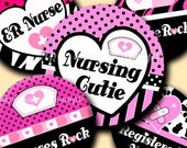 INSTANT DOWNLOAD Nurses Rock (095) 4x6 Bottle Cap Images Digital Collage Sheet for bottlecaps glass tiles hair bows magnets bottlecap images
