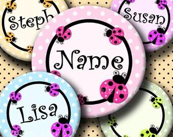 INSTANT DOWNLOAD Editable JPG Colorful LadyBug (228) 4x6 Bottle Cap Images Digital Collage Sheet  for bottlecaps hair bows bottlecap images