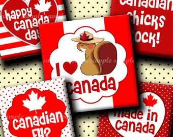 INSTANT DOWNLOAD Canada Day (269) 4x6 Digital Collage Sheet 1 inch square images for glass tiles resin pendants magnets stickers ..
