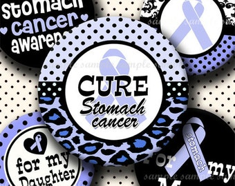 INSTANT DOWNLOAD Stomach Cancer Awareness Ribbon (357) 4x6 Bottle Cap Images Digital Collage Sheet for bottlecaps hair bows bottlecap images