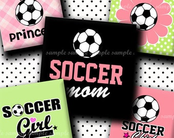 INSTANT DOWNLOAD Soccer Rocks (167) 4x6 Digital Collage Sheet 1 inch square images for glass tiles resin pendants magnets stickers ..