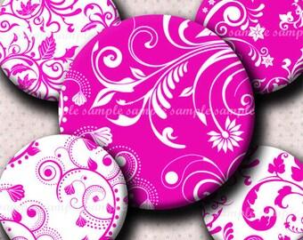 INSTANT DOWNLOAD Pink Floral Designs (473) 4x6 Bottle Cap Images Digital Collage Sheet  bottlecaps glass tiles hair bows .. bottlecap images