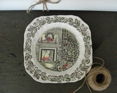 RESERVED for MICHELLE Vintage Christmas china plate
