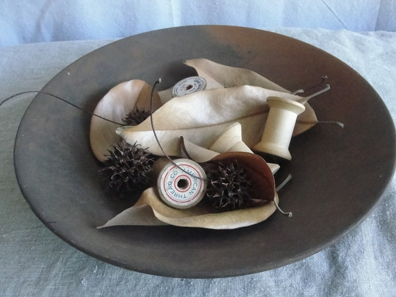 Rustic metal bowl, vintage metal bowl for autumn inspirations