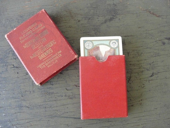 Antique playing cards, DRG and W railroad SALE memorabilia, early 1900s photos, Western Pacific Railwayssa