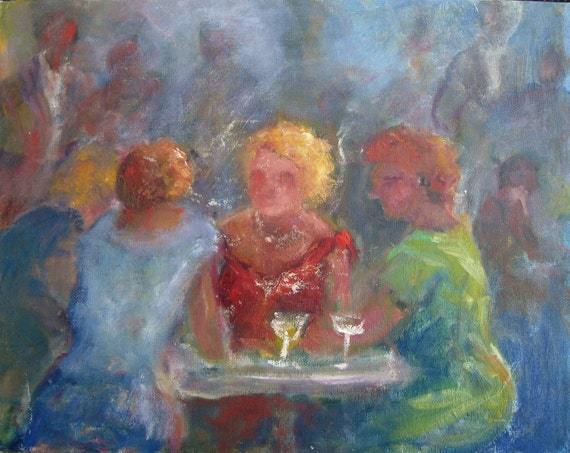 Ladies Night Out Original oil painting 11x14