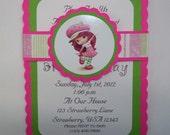 Private listing for jhoff927 - Strawberry Shortcake Invitations, Birthday