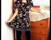 RESERVED for Laura Vintage Dress: Floral SIZE S-L