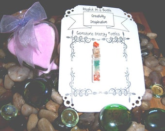 Creativity and Inspiration Gemstone Energy Bottles - Magick in a Bottle