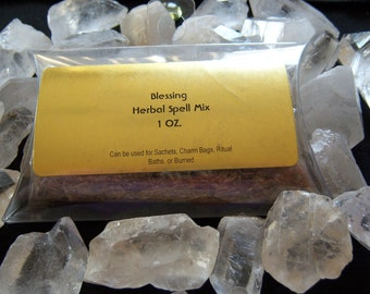 Blessing Herbal Spell Mix - Remove Negativity, Purify, Bless