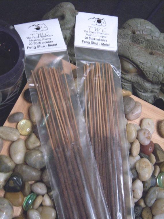Metal Feng Shui Elemental Incense - Health, Energy