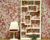 """Modern Miniature Dollhouse Bookcase/Room Divider in 1:12, One Inch Scale, """"RC"""" Bookcase"""