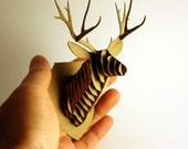 Dollhouse Miniature Deer Trophy Head, Modern Animal Friendly Wall Decor in Cardboard