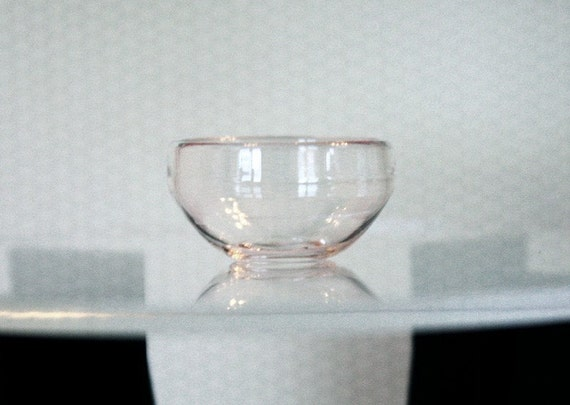 Dollhouse Miniature Large Glass Salad Bowl in One Inch Scale 1:12