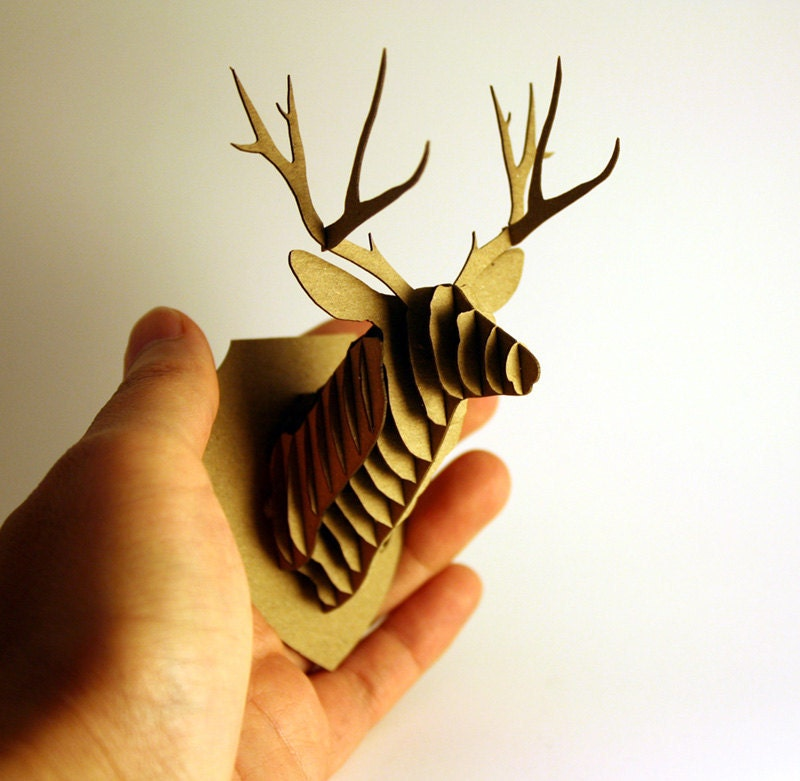 Dollhouse Miniature Deer Trophy Head Modern By Amazingminiatures