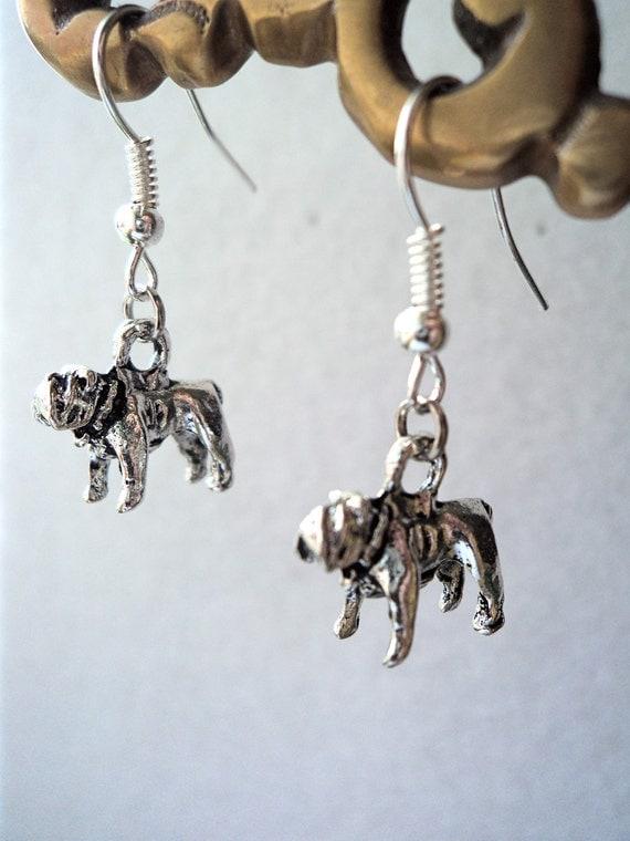 Bulldog earrings