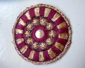 Bellydance costume- Magenta mirror base Medallions- SAI1