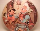DISNEY'S PINOCCHIO Vinyl Record Wall Clock Picture Disc