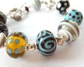 Artisan Lampwork Glass Bracelet