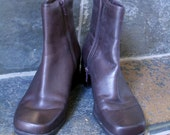 Soft LEATHER Ankle boots,brown, Madeline Stuart, Women's size 6.5