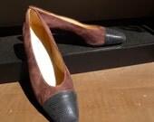 SALE...Classic Etienne Aigner Pumps, vintage, Leather, 10 M