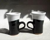 His 'n Hers,  Handmade Porcelain mugs, set of 2 , California
