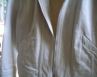 50% OFF...Women's Jacket, Natural Beige, stretch cotton canvas, STURDY