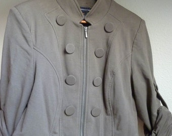 SALE...Military style Jacket / Top, Zip up Front