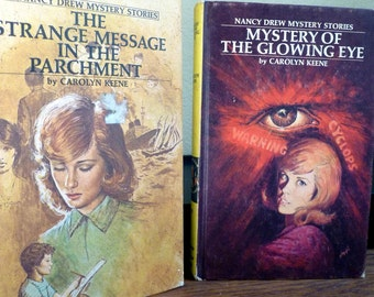 Collection of 2 Nancy Drew Mystery books, Vintage 1970's