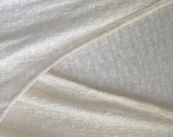 Ivory Sweater, lightweight knit, crossover V-neck